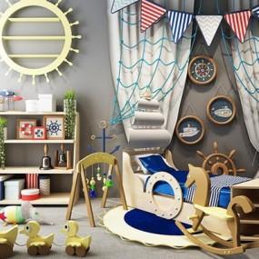 地中海儿童床柜子玩具组合3D模型【ID:727953113】