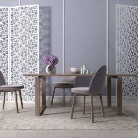 现代餐桌椅组合3D模型【ID:126233851】