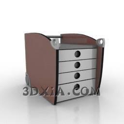 d矮柜sdown-135-3DS格式3D模型【ID:20257】