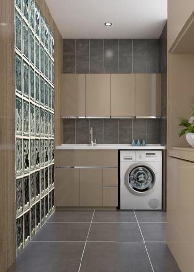 现代风格阳台洗衣柜3D模型【ID:928164459】