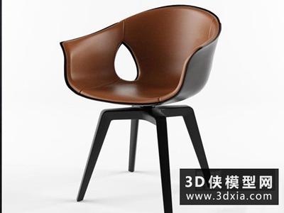 現代休閑椅國外3D模型【ID:729528820】