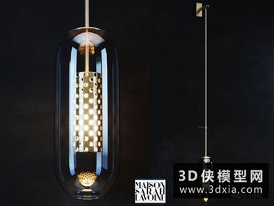 現代壁燈國外3D模型【ID:829452887】