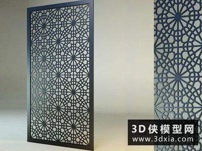 現代雕花板國外3D模型【ID:929557541】