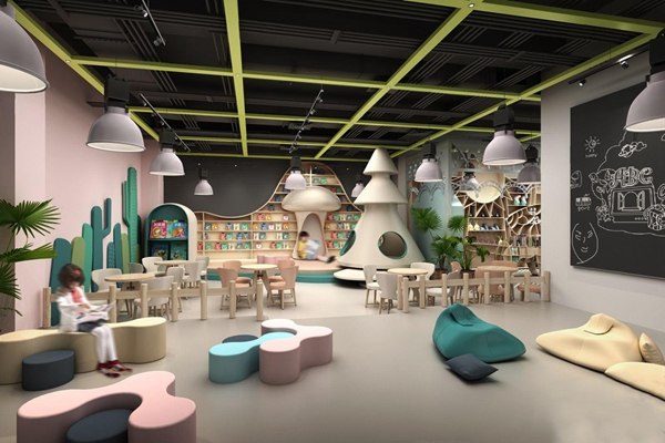 現代時尚幼兒園消費區娛樂場3D模型【ID:528215892】