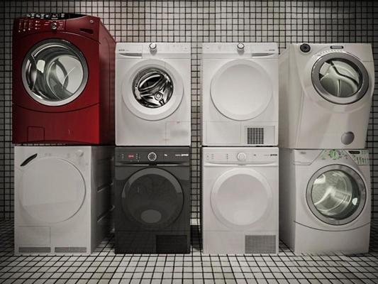 洗衣机组合3D模型【ID:127849528】