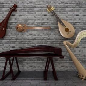 中式古典乐器3D模型【ID:127847456】