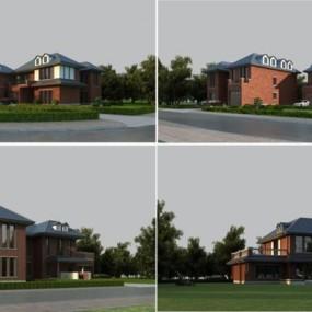 室外别墅建筑3D模型【ID:327908578】