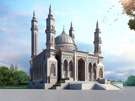 清真寺3D模型【ID:528003457】