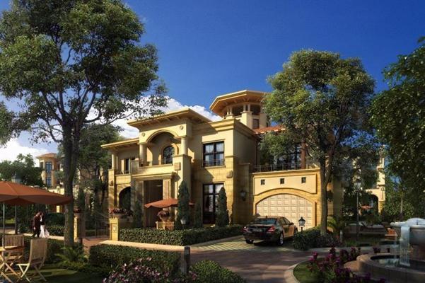 歐式別墅建筑景觀庭院3D模型【ID:327904515】