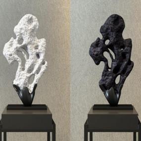 新中式奇石装饰3D模型【ID:327908868】