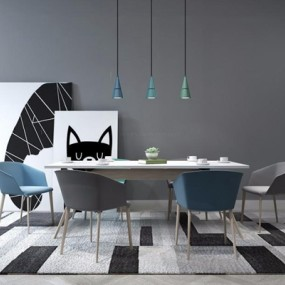 北欧餐桌椅3D模型【ID:327908494】