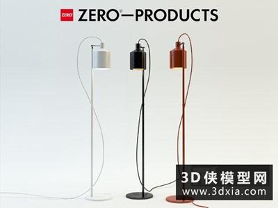 現代落地燈國外3D模型【ID:929735071】