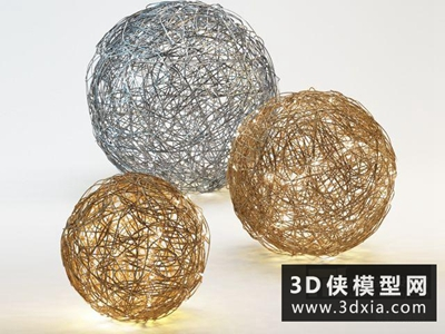 铁丝落地灯国外3D模型【ID:929463036】