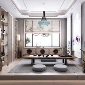 日式茶室3D模型【ID:641711104】