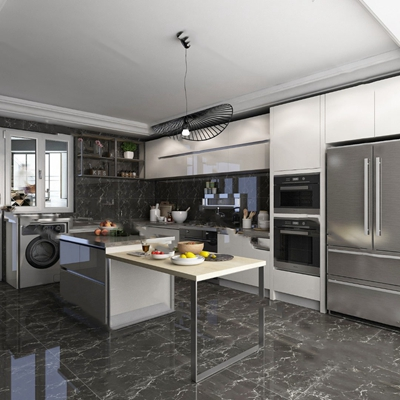 现代厨房3D模型【ID:124897459】