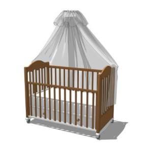 婴儿床SU模型【ID:545894386】