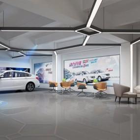 4S汽车店3D模型【ID:328034997】