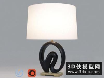 現代臺燈國外3D模型【ID:829488950】