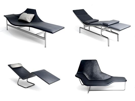 现代极简躺椅组合3D模型【ID:227885692】