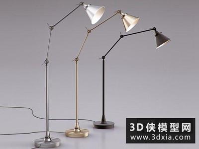 现代落地灯国外3D模型【ID:929480003】