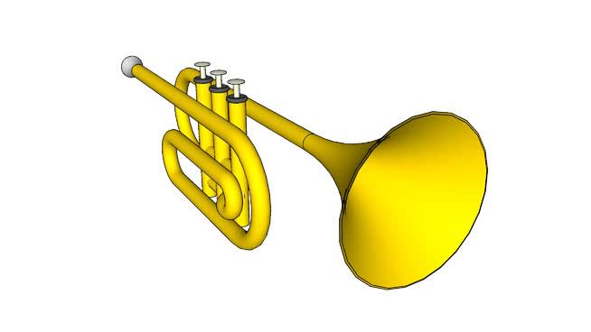 3D挑战12:乐器:小号SU模型【ID:939527131】