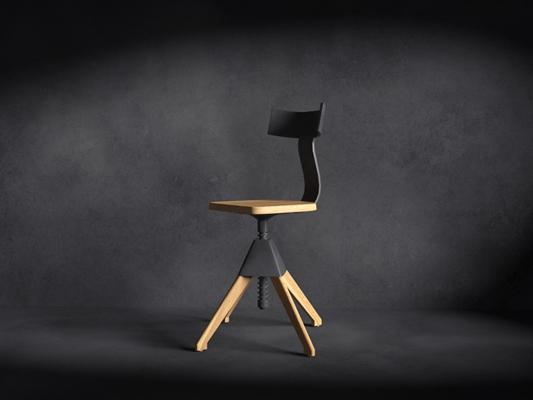 现代木艺电脑椅3D模型【ID:214934871】