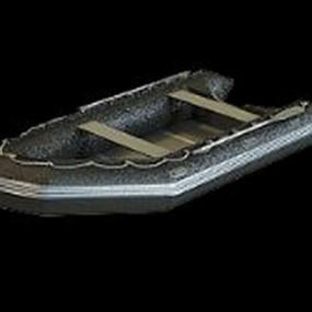 黑色橡皮艇3D模型【ID:215063170】