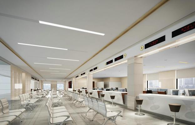 现代白色银行3D模型【ID:215162837】