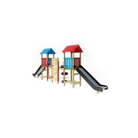 塑料儿童滑梯3D模型【ID:215250458】