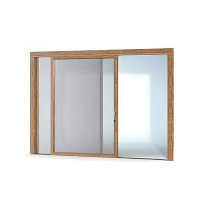 现代长方形木艺推拉窗3D模型【ID:215251947】