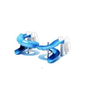 蓝色塑料儿童滑梯3D模型【ID:215267464】