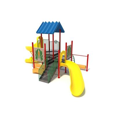 黄色塑料儿童滑梯3D模型【ID:215268408】