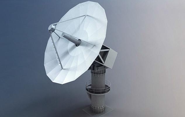 白色雷达3D模型【ID:215275714】