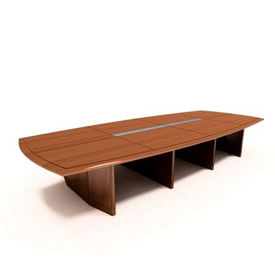 现代木艺会议桌3D模型【ID:215278337】
