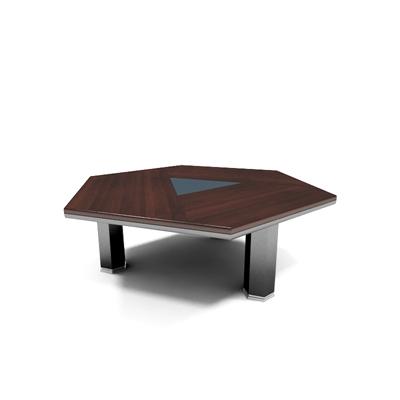 现代红色木艺会议桌3D模型【ID:215278341】