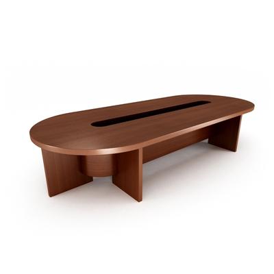 现代红色木艺会议桌3D模型【ID:215278345】