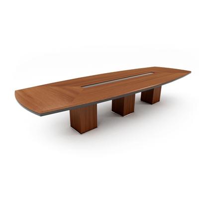 现代木艺会议桌3D模型【ID:215278368】