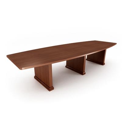 现代木艺会议桌3D模型【ID:215278372】