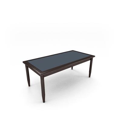 现代长方形木艺会议桌3D模型【ID:215279387】