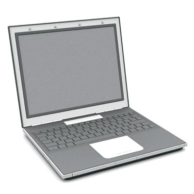 灰色笔记本电脑3D模型【ID:215335803】