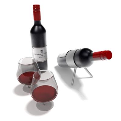 透明酒瓶酒杯组合