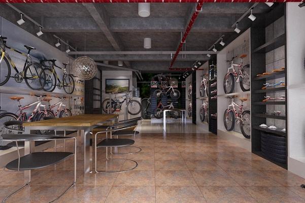现代自行车展厅3D模型【ID:215402842】
