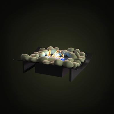 黑色壁炉芯3D模型【ID:215423394】