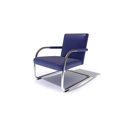 现代蓝色皮质办公椅3D模型【ID:215426949】