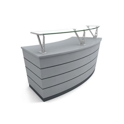 现代灰色木艺前台桌3D模型【ID:215434574】