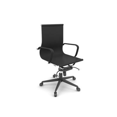现代黑色布艺电脑椅3D模型【ID:215435800】