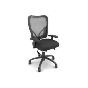 现代黑色布艺电脑椅3D模型【ID:215435823】