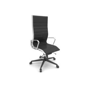 现代黑色布艺电脑椅3D模型【ID:215435825】