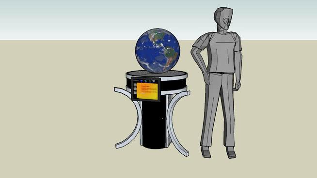 神奇星球站概念图SU模型【ID:637494067】