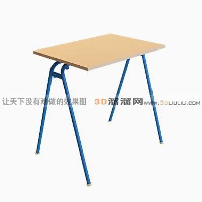 儿童学习桌33D模型【ID:216968140】